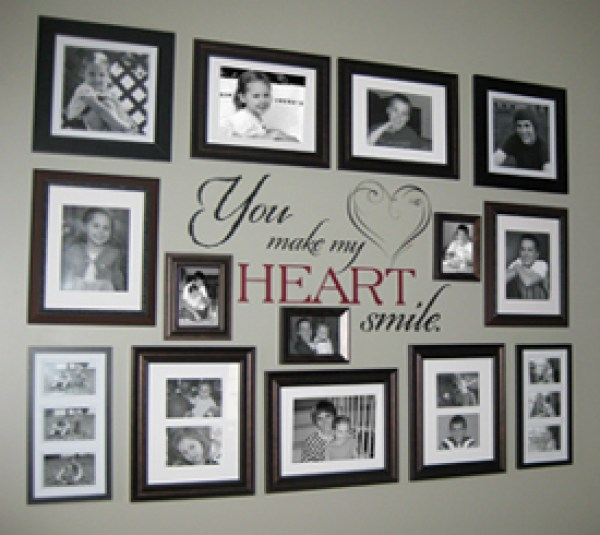 Heart Wall Decor With Pictures : Ideas for photo collage gallery walls home and garden
