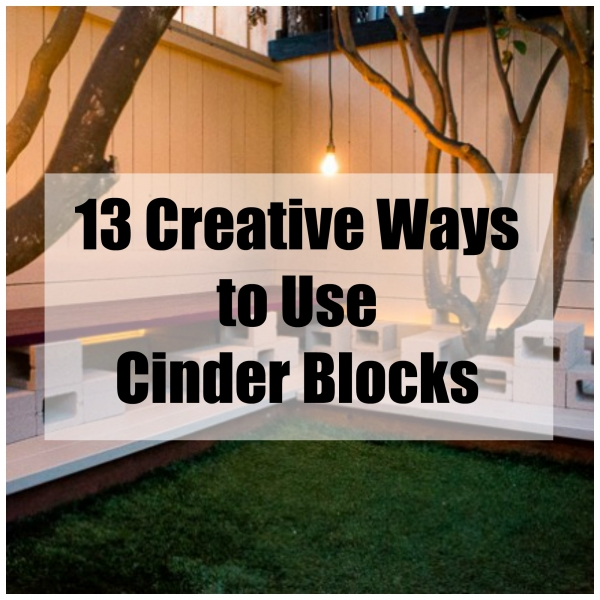 13 different ways to use your extra cinder blocks home