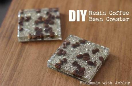 DIY Coffee Bean Resin Coasters