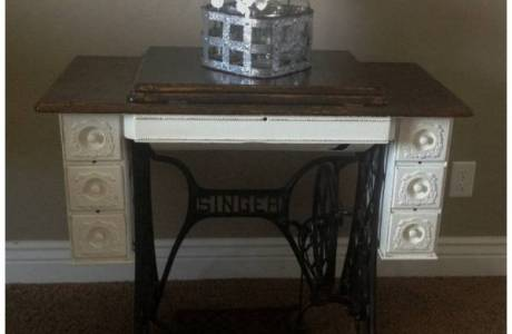 Antique Sewing Cabinet Makeover