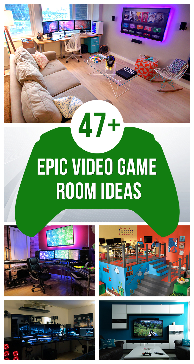 Genial Gamer Room Designs Epic Video Game Room Decoration Ideas 2018 Video Game Room Ideas Video Game Room Essentials houzz 01 Video Game Room