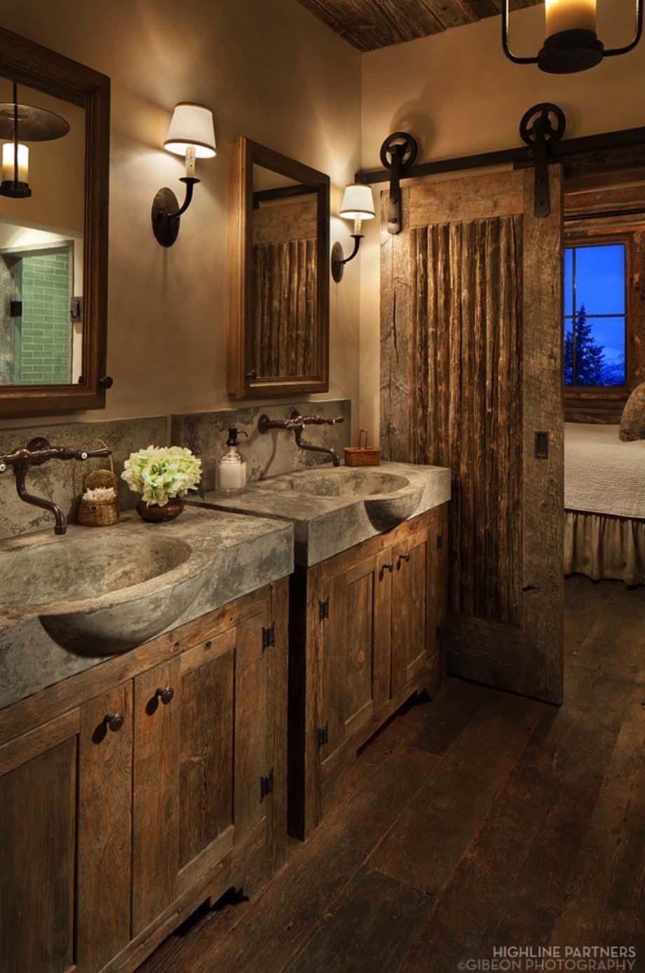 Amazing Decor Ideas Decor Concrete Sinks Barn Door Rustic Bathroom Design Rustic Bathroom Dcor 2018 Rustic Home Accessories Rustic Home Accessories home decor Rustic Home Accessory