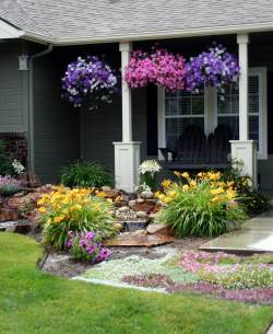 Chic Garden Designs Petunias Front Yard Landscaping Ideas Porch Full 2018 Landscape Pics Front Yard
