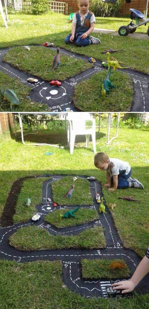 Catchy Kids Designs A Miniature Street Racecar Diy Backyard Ideas 2018 Backyard Landscape Design Free Backyard Landscape Designers