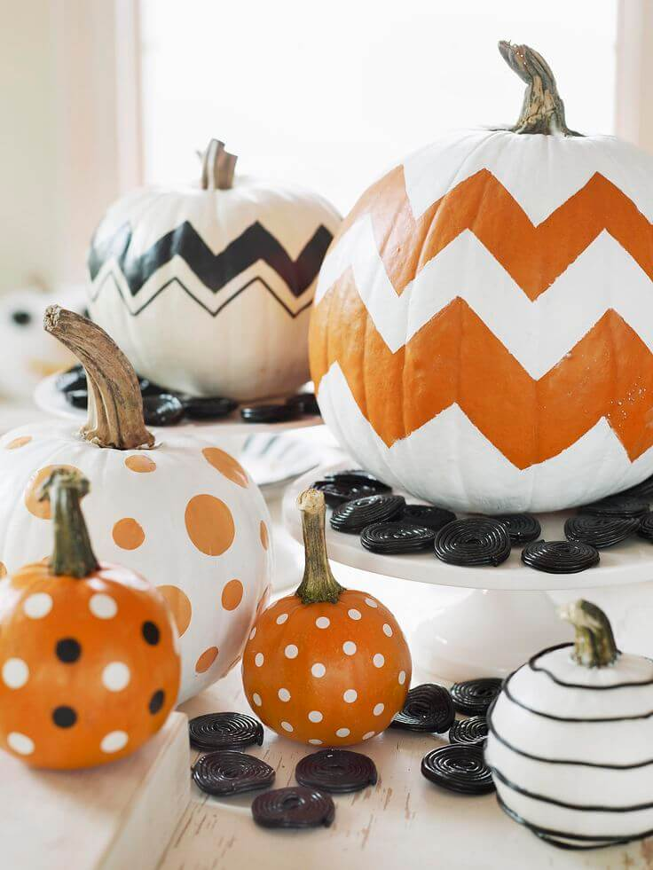 28 Best No Carve Pumpkin Decorating Ideas and Designs for 2018 1  Dreaming of a White Halloween