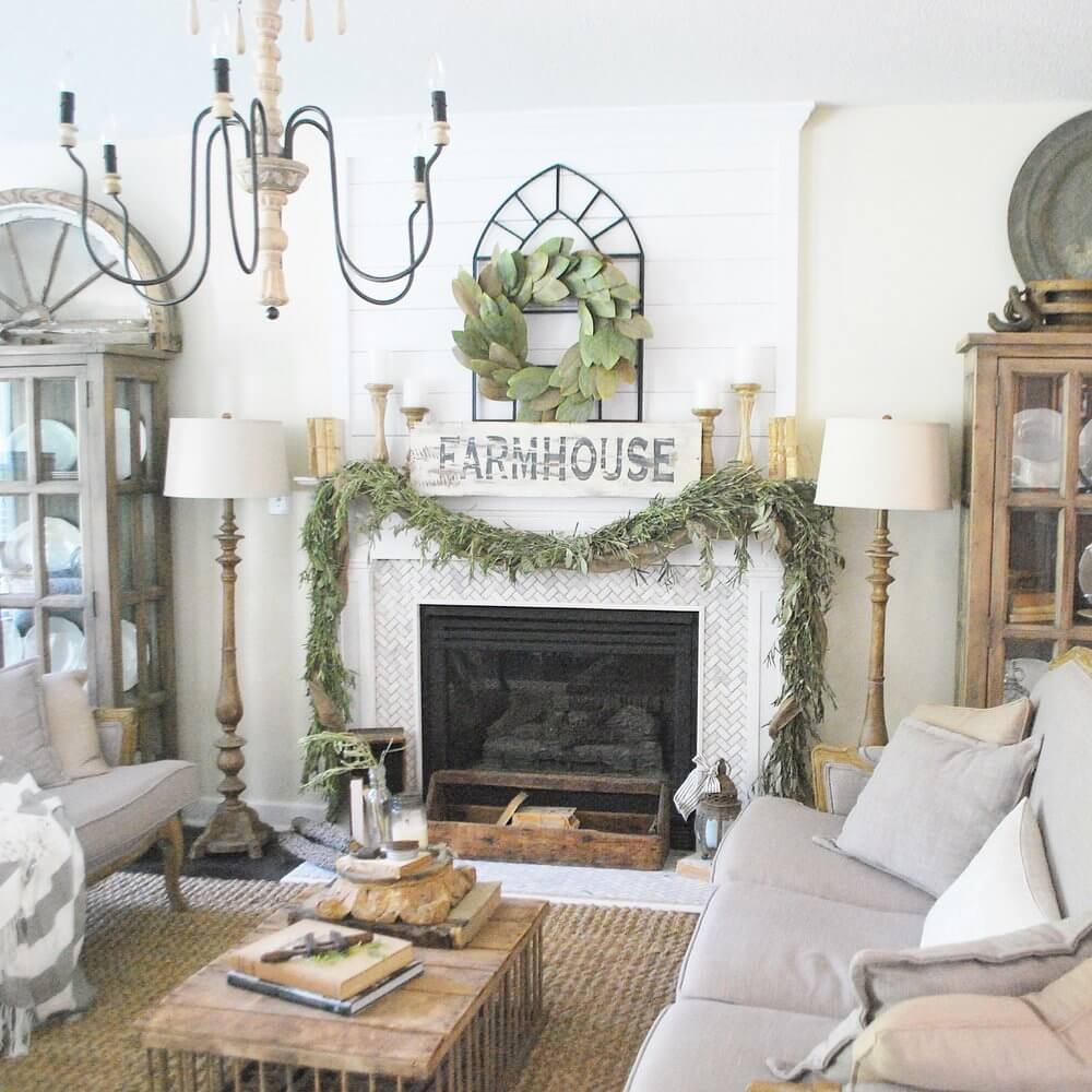 28 Best Farmhouse Mantel Decor Ideas and Designs for 2018 All the Trends on One Mantel