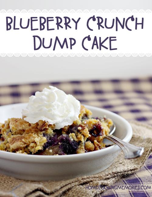 Paleo Blueberry Dump Cake