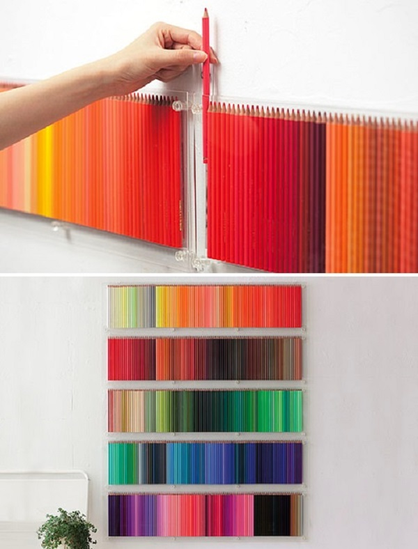 coloured pencil diy wall art