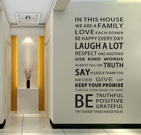 decorative wall quote art