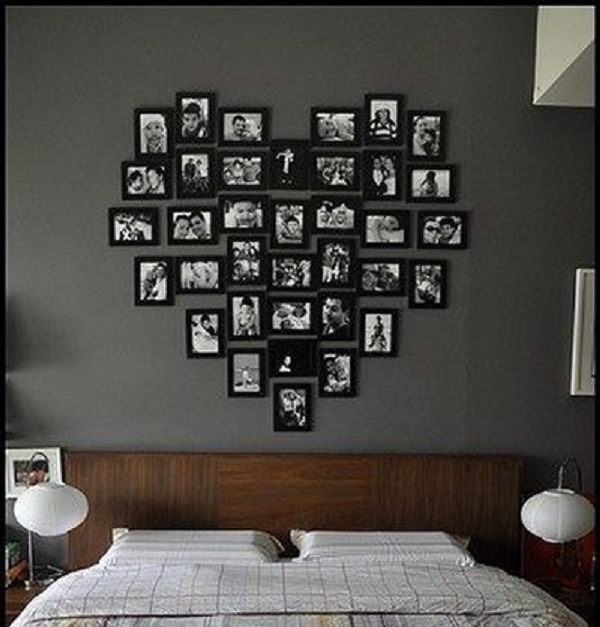 love shape frame wall decor