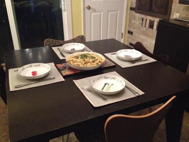 Pasta serving blow set