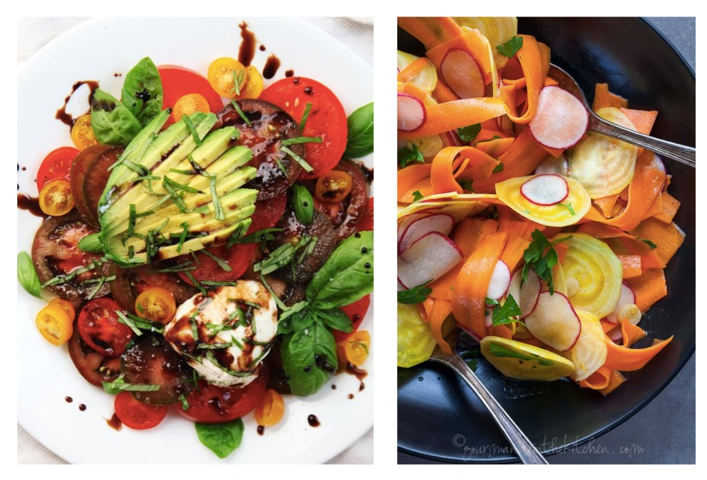 Colorful Vegetable Salads