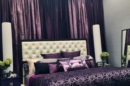 luxurious purple bedrooms | homedesignboard