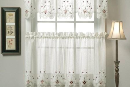 white kitchen curtain design