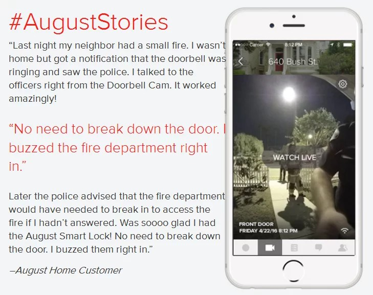 August Doorbell cam review