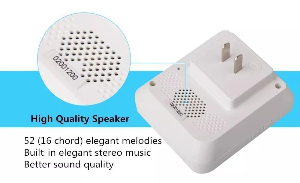 Physen Europe Style Piano Wireless Doorbell kit - Home Doorbell
