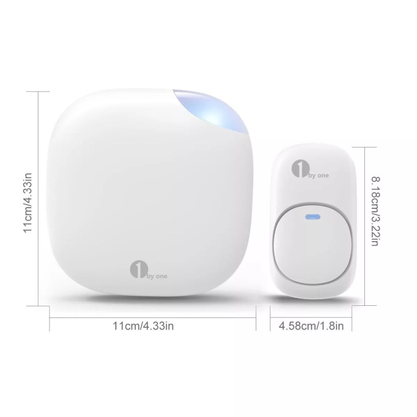 1byone wireless doorbell door chime kit