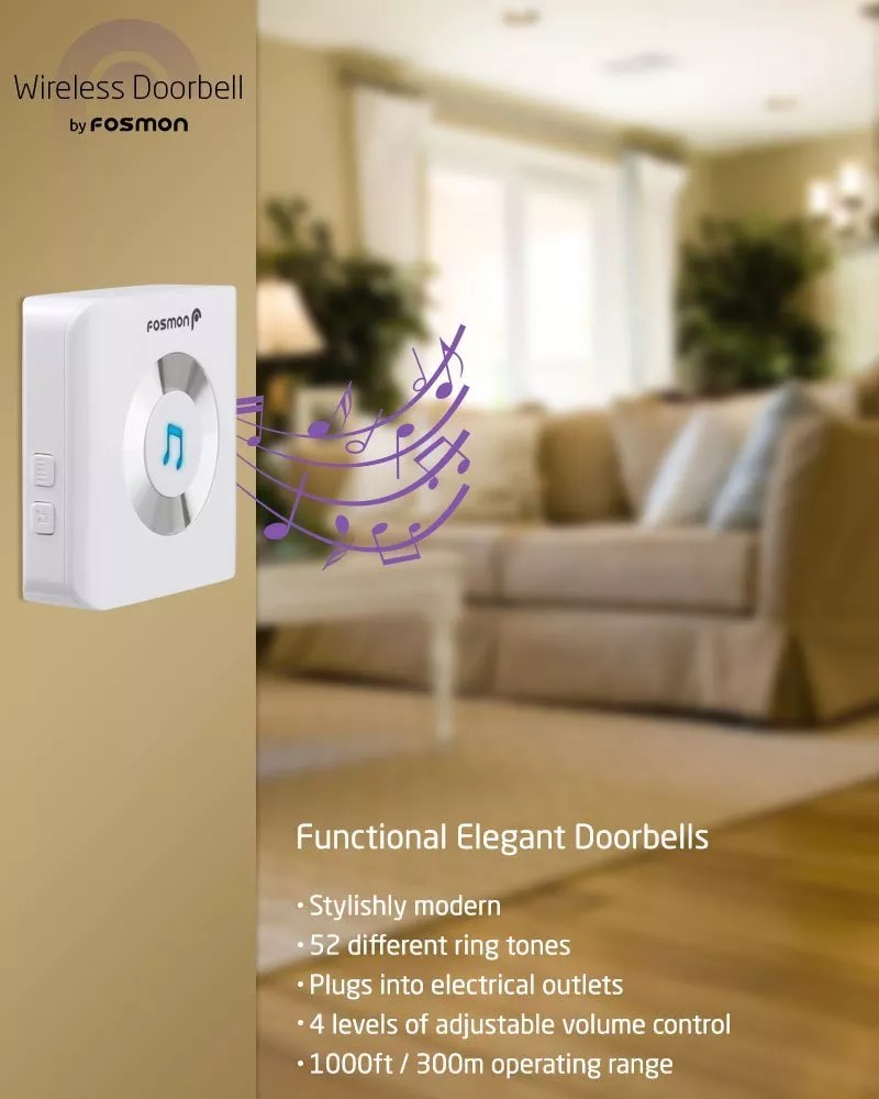 Fosmon 51001HOM Wireless Doorbell