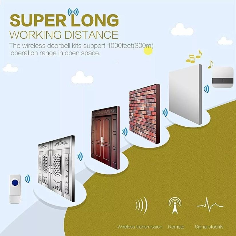high range Portable Wireless Doorbell