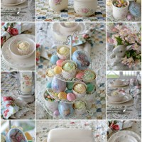 At the Table: Roses, Bunnies, and Pfaltzgraff Tea Rose Dinnerware
