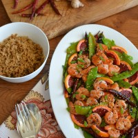 Chinese New Year: Blood Orange-Shrimp Stir-Fry