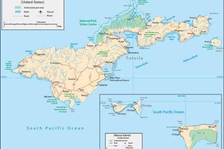 Map Of Samoa Island - Samoa map