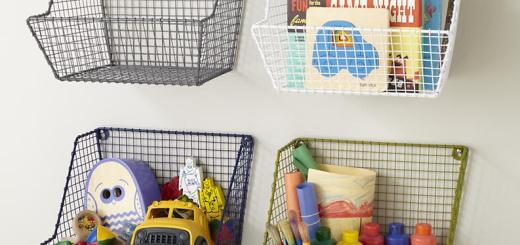 Wall Basket Storage for Kids Toy