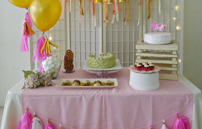 Pretty in Pink (and Gold) DIY Dessert Table