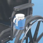 Clamp-On Wheelchair Cup Holder