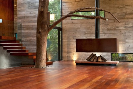 modern homes with wood fireplaces