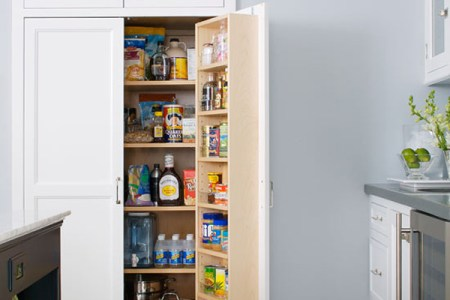 built in recessed kitchen pantry design