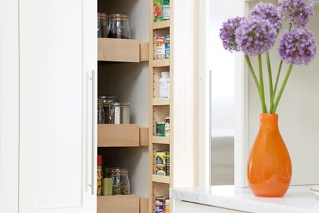 slim and small pantry kitchen design