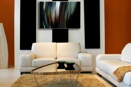 wall art ideas for living room abstract art