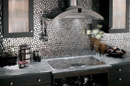 metal kitchen wall tile ideas