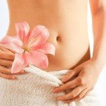 clean healthy tummy with herbal flower