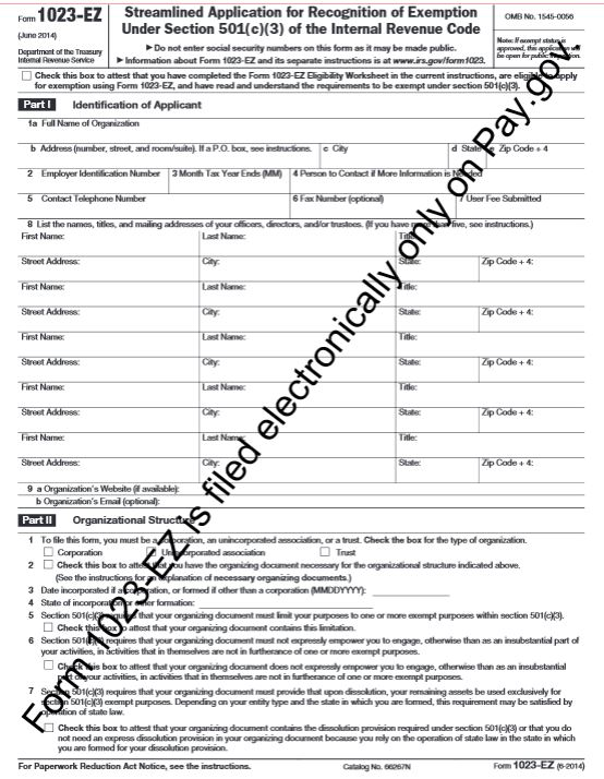 New IRS Form 1023-EZ make applying for tax exempt status ...