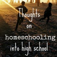 Thoughts on Homeschooling into Highschool