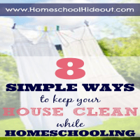 Housework and Homeschooling: 8 Easy Tips to Keep You Sane