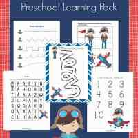 Free Airplanes Preschool Learning Pack