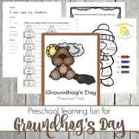 Groundhog Day Preschool Printable