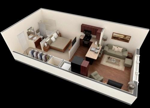 Medium Of Small Apartment Floor Plans