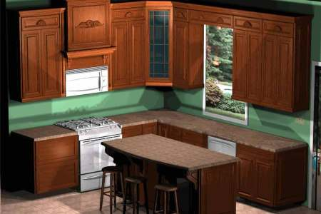 kitchen floor plan idea for clic kitchen style that describes wood cabinet systems in clic style vinyl countertop that looks like wood a gas stove a kitchen island plus bar chairs