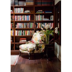 Startling Flower Vase Decorated Most Reading Chair That Perks Up Your Reading Time Most Reading Chair Floral Pattern Round Wooden Endtable