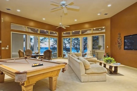 interior design games for adults and game room decoderation ideas with pool table and comfy sofa and modern coffee table and ceiling fan plus table card