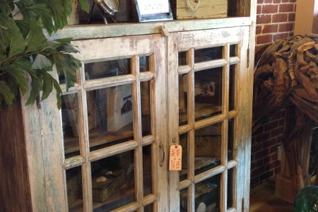 cabinet wood rustic home