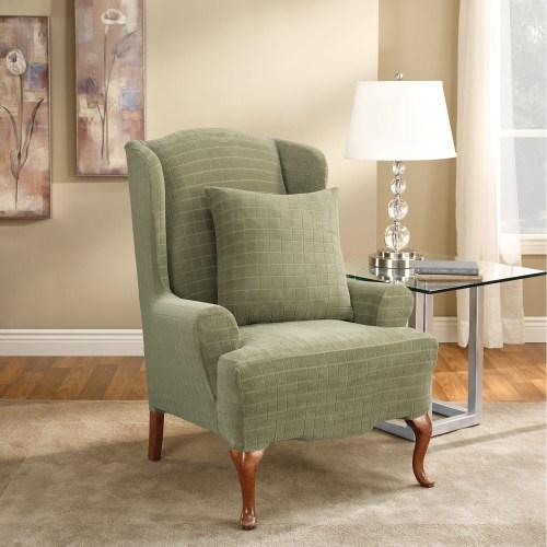 Medium Of Wing Chair Slipcover