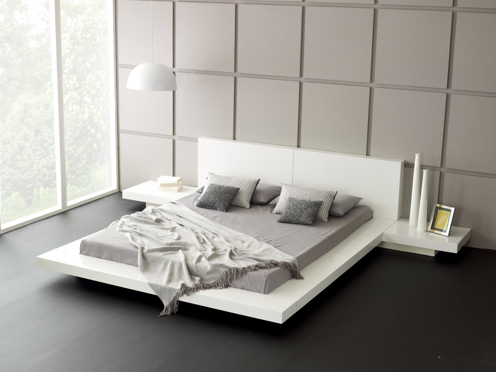 Admirable Wooden Bed Frames Low Profile Queen Bed Square Panel Wall Low Profile Bed Frame Queen Homesfeed Low Profile Bed Frame Low Profile Bed Sheets houzz-03 Low Profile Bed