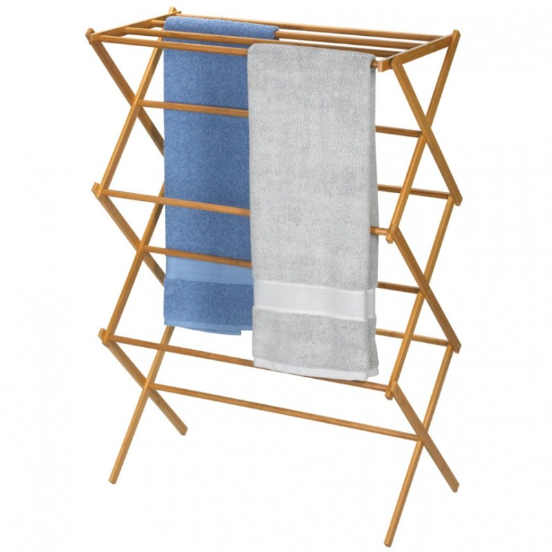 Large Of Wooden Clothes Drying Rack