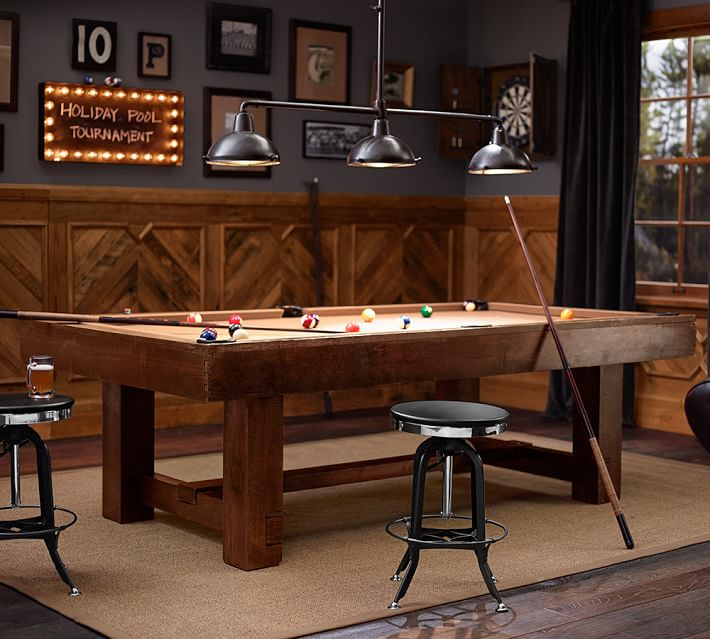 stunning basement pottery barn for teen idea with billiard table and