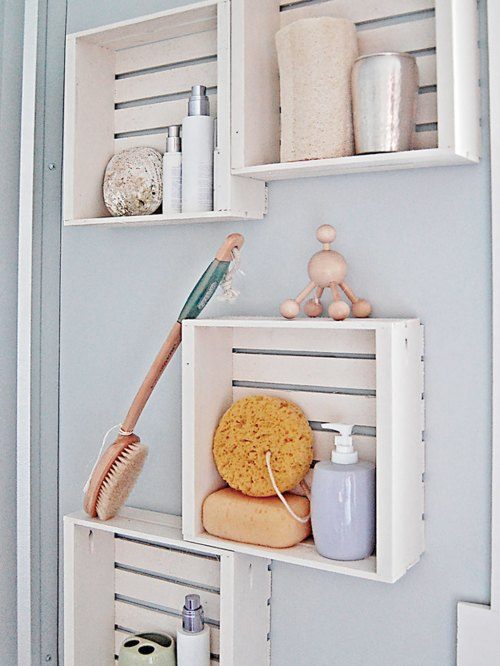 Medium Of Wooden Wall Shelves For Bathroom